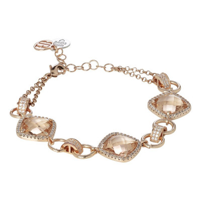 Modular Bracelet with crystals peach and zircons