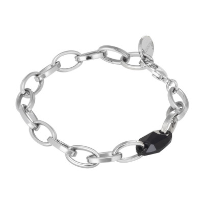 Chain bracelet with Swarovski jet