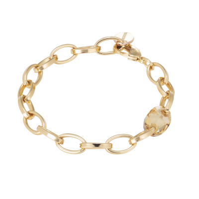 Chain bracelet with Swarovski golden shadow