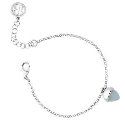 Bracelet with crystal aquamarine pendant