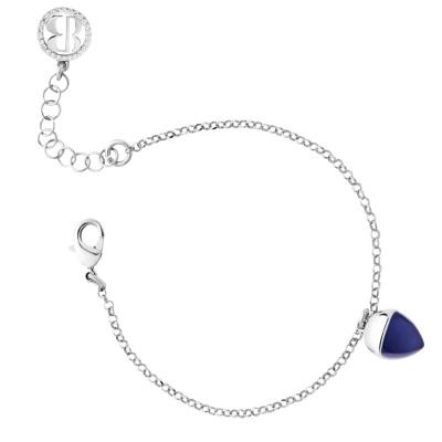 Bracelet with tanzanite crystal pendant
