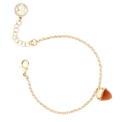 Bracelet with crystal pendant carnelian