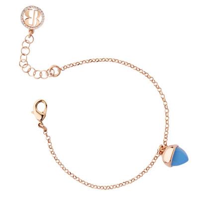 Bracelet with chalcedony crystal pendant