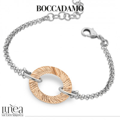 Two-tone bracelet with circular decoration