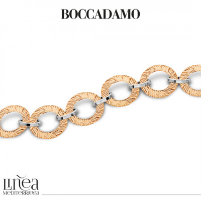 Two-tone bracelet with circular modules