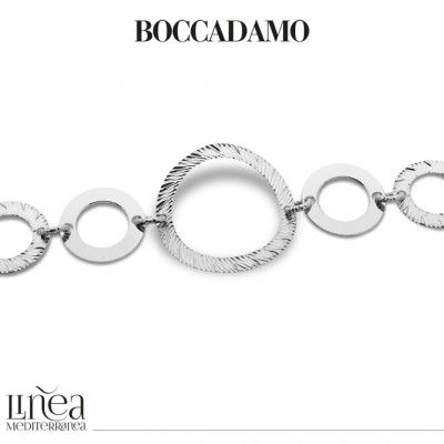 Rhodium-plated bracelet with circular modules
