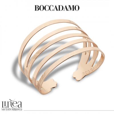 Rose gold plated multi strand bracelet