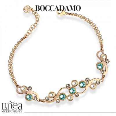 Bracelet with Swarovski crystal and light turquoise