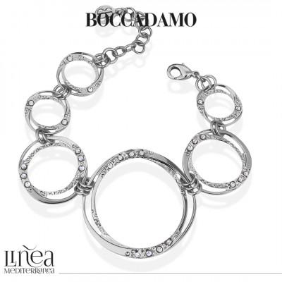 Degraded circular module bracelet with Swarovski