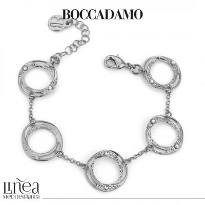 Bracelet with small circular modules with Swarovski