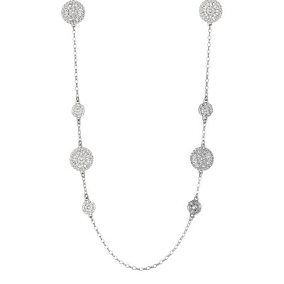 Long necklace with decorations of the Etruscans and Swarovski
