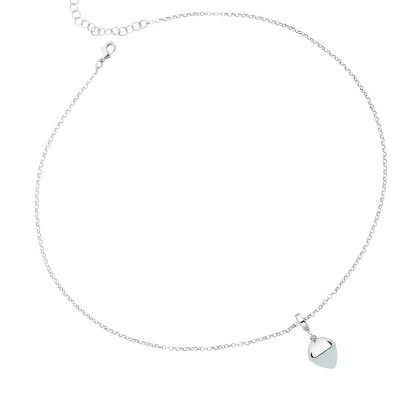 Necklace with aquamarine crystal pendant