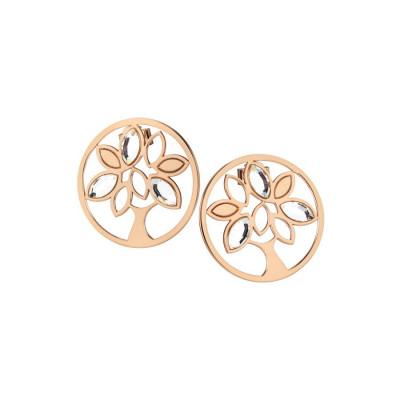 Earrings rosati lobe with tree of life and Swarovski
