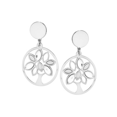 Earrings Pendant with tree of life and Swarovski