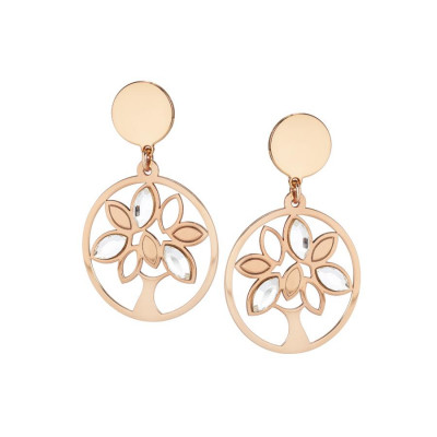 Earrings rosati pendants with tree of life and Swarovski