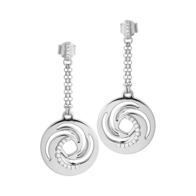 Earrings hanging decoration with a vortex and zircons