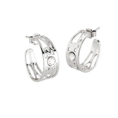 Earrings half moon with Swarovski