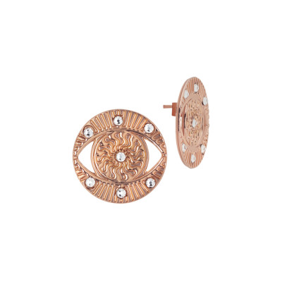 Rose Gold Plated Eye of Horus Earring with Swarovski