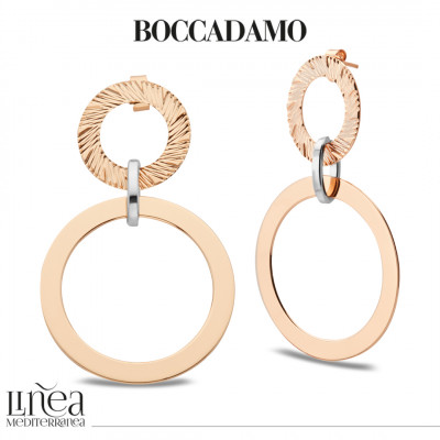 Rose gold plated earrings with circles