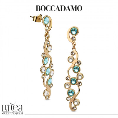 Earrings with Swarovski crystal and light turquoise