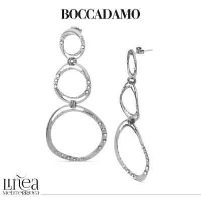 Earrings with degraded circles and Swarovski