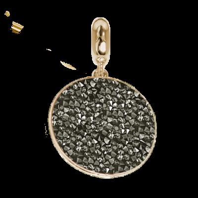 Charm with carpet Swarovski metallic silver