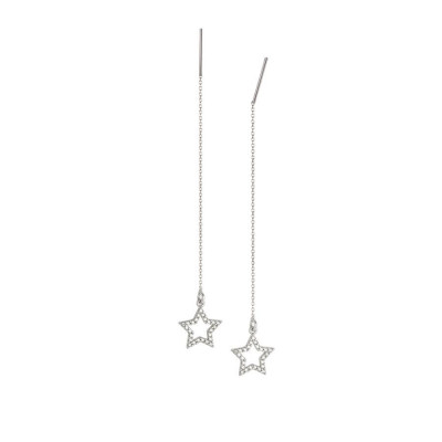 Earrings latch with the star of zircons