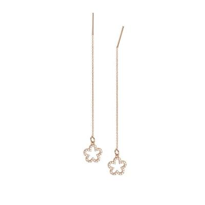 Earrings latch rosati with flower of zircons