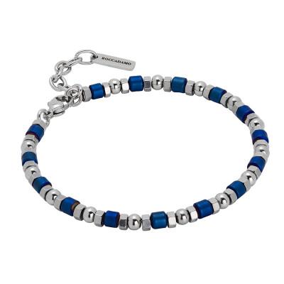 Bracelet with blue hematite decorations