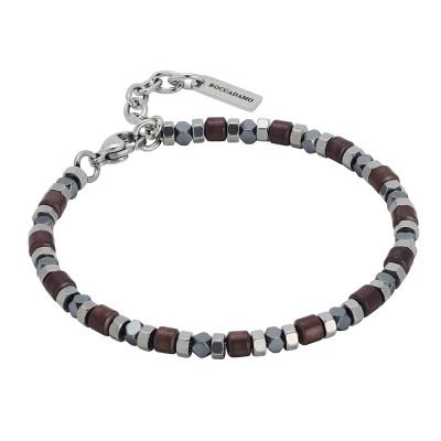 Bracelet with brown hematite decorations