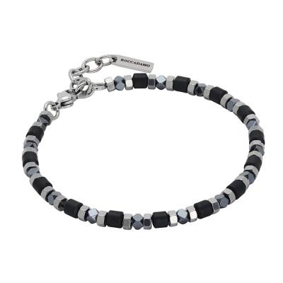 Bracelet with decorations of black hematite