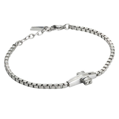 Steel bracelet with central crucifix