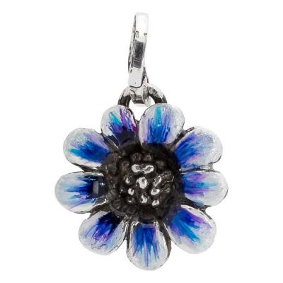 Charm with blue daisy