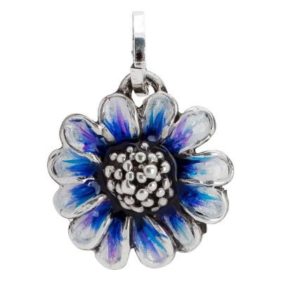 Charm with big blue daisy