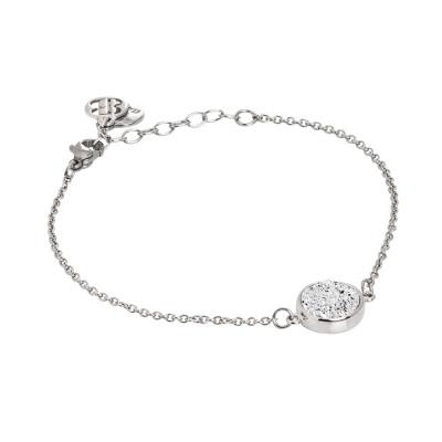Bracelet with white druzy stone