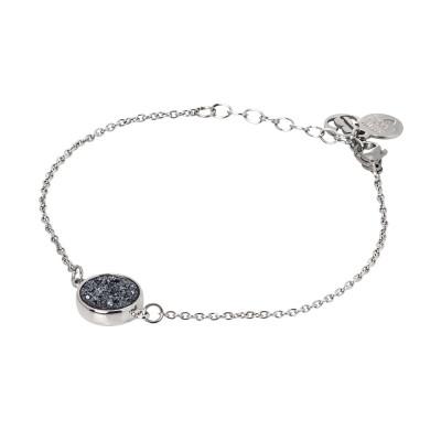 Bracelet with hematite stone druzy