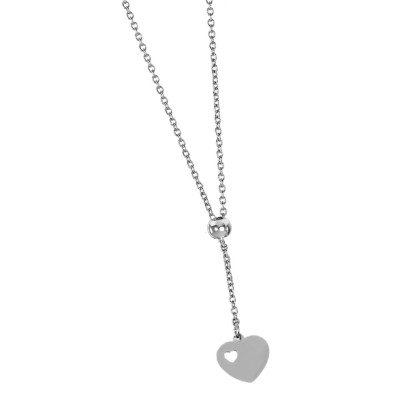 Necklace with pendant tie and heart