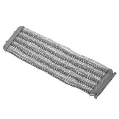 Multiwire cuff of Beads Swarovski white, gray and light gray