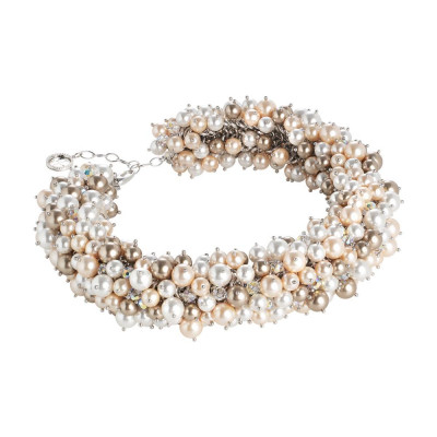 """Short necklace with composition of pearls and Swarovski Crystals inspiration """"Summer"""""""