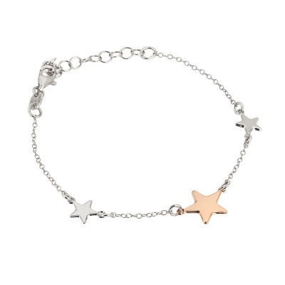 Bracelet with bicolor stars