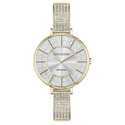 Gold watch with semi-rigid Swarovski strap
