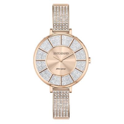 Rose gold watch with semi-rigid Swarovski strap