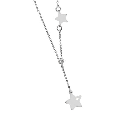Necklace with side star and pendant