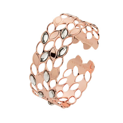 Pink band bracelet with grain and Swarovski decorations