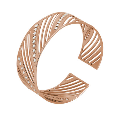 Pink band bracelet with diamonds of Swarovski crystals
