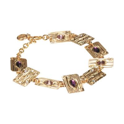 Modular bracelet with pink Swarovski
