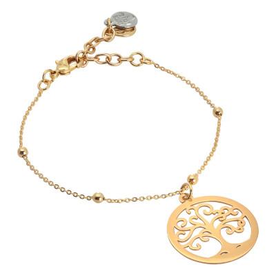 Golden tree of life bracelet