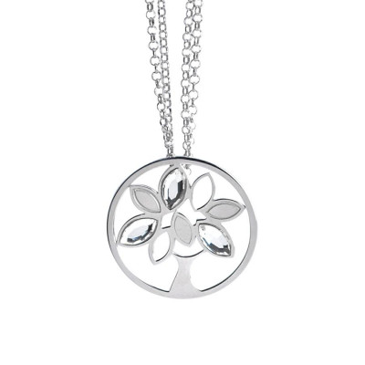 Necklace with a pendant tree of life and Swarovski