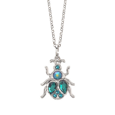 Short necklace with Swarovski beetle