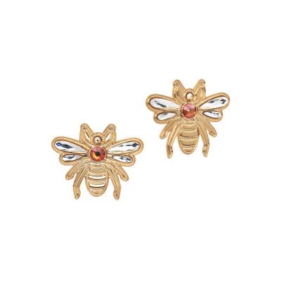 Lobe earrings with bee